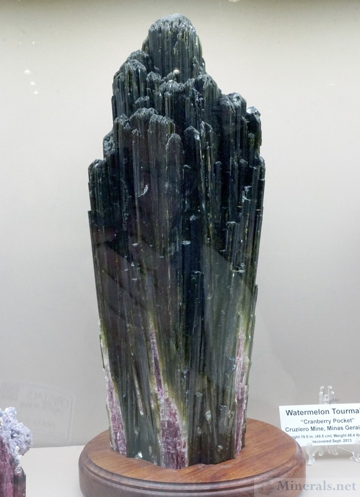 Giant Tourmaline Crystal Cluster from the Cruzeiro Mine, M.G., Brazil, St. Troy Consolidated Mines, LTD