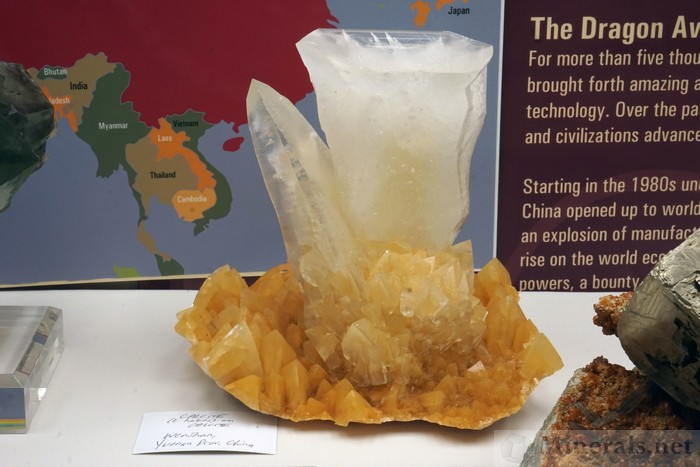 Calcite Cup Shaped Crystal on Calcite Matrix (2 Habits) from Wenshan, Yunnan Prov., China, Robert Lavinsky Collection