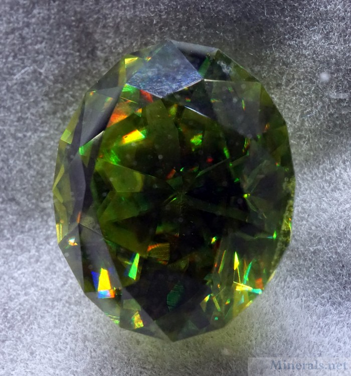 Large Rare Green Titanite Gem from ***???***, Kosnar Gem Co.