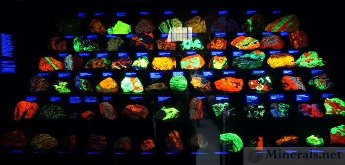 Fluorescent Minerals from Sterling Hill