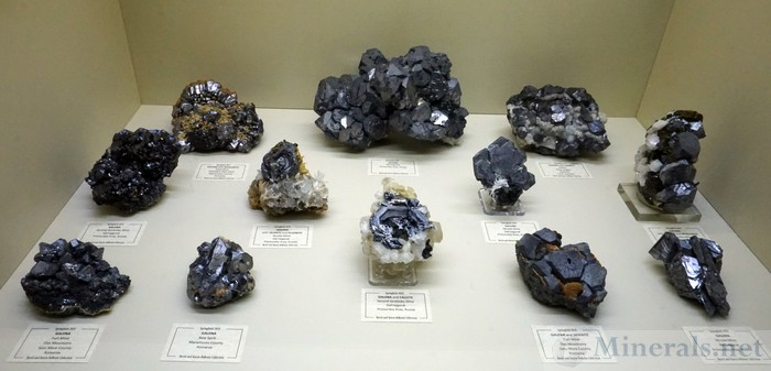 Galena Crystals from Russia (Dal'Negorsk) and Eastern Europe (mostly Romania)