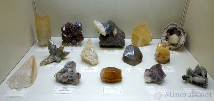 Large Display Calcite Crystals from the Midwest (and one Loner from New York)
