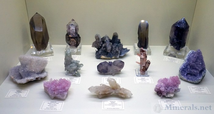 Various Quartz Crystals from Worldwide Localities