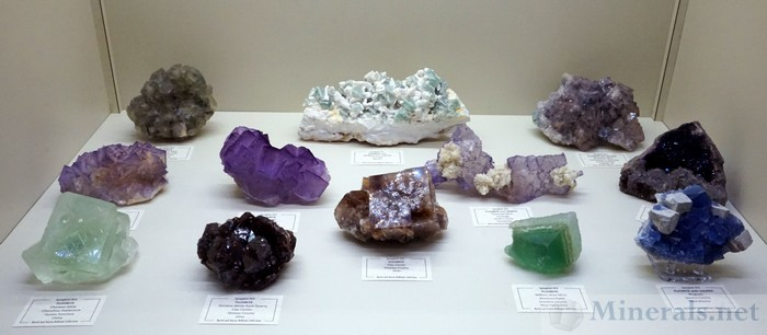 Fluorite Crystals of Varied Colors from Worldwide Localities