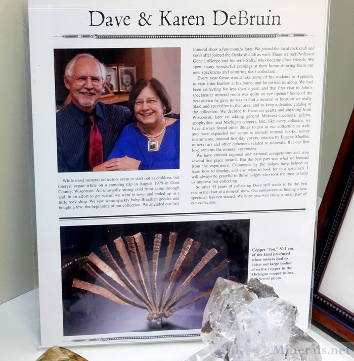 David & Karen DeBruin bio from Mineralogical Record in their Introductory Case