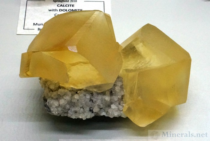 Yellow Calcite Crystals from the Sokolovskoe Mine, Rudny, Kazakhstan