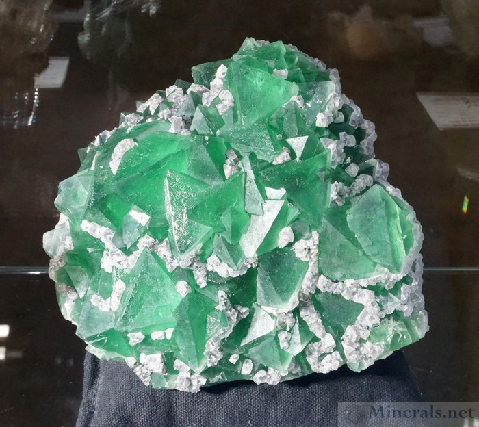 Green Fluorite Crystal Cluster from Yiwu, Zhejiang Prov, China - Hummingbird Minerals