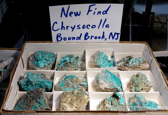 New Chrysocolla from the Chimney Rock Quarry, Bound Brook, NJ, Jason Baskin Minerals