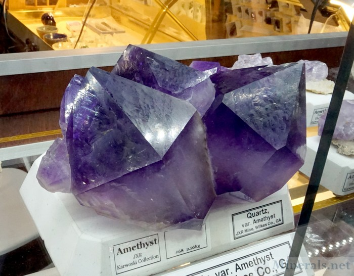 Very Large Amethyst Crystals from Jacksons Crossroads, Georgia, Mark E. P. Woods Minerals