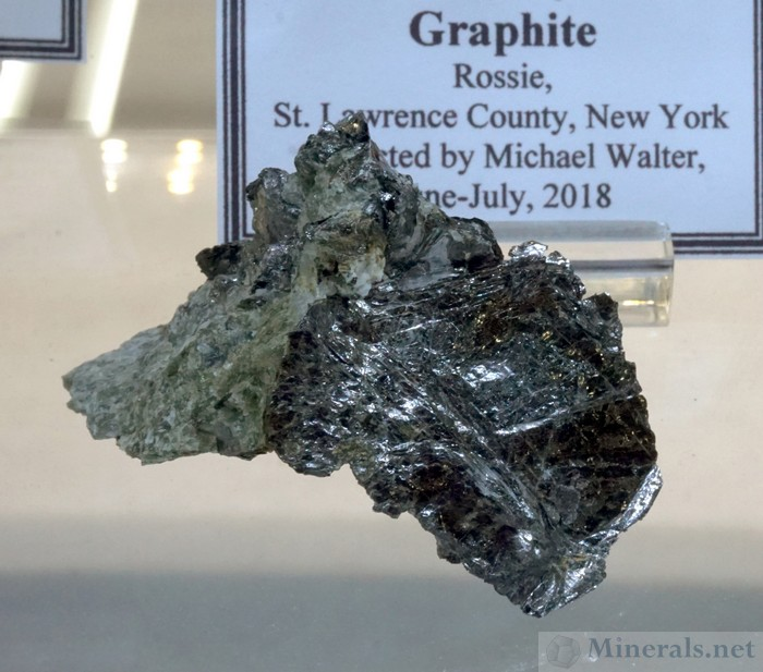 Single Large Graphite Crystal Flake from Rossie, St. Lawrence Co., New York
