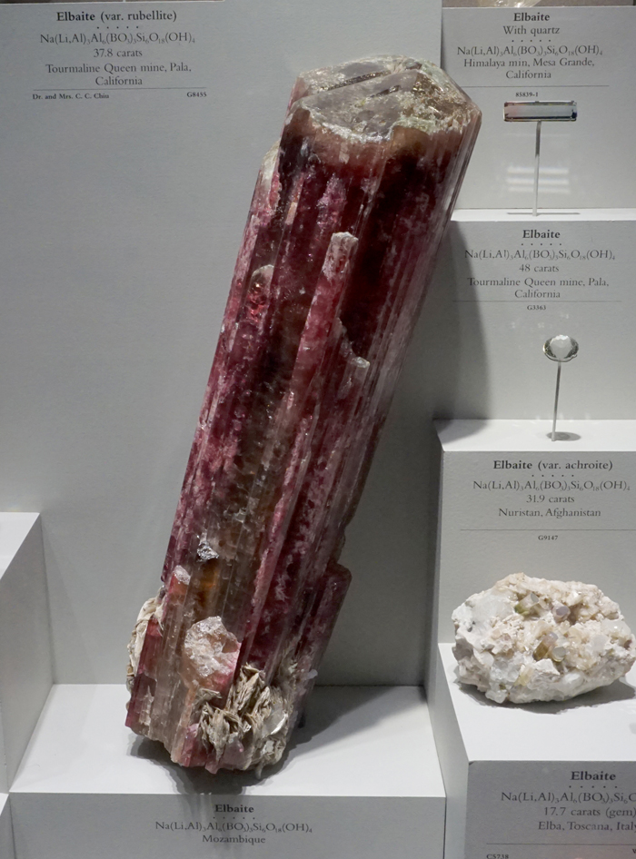 Giant Red Elbaite Tourmaline from Mozambique
