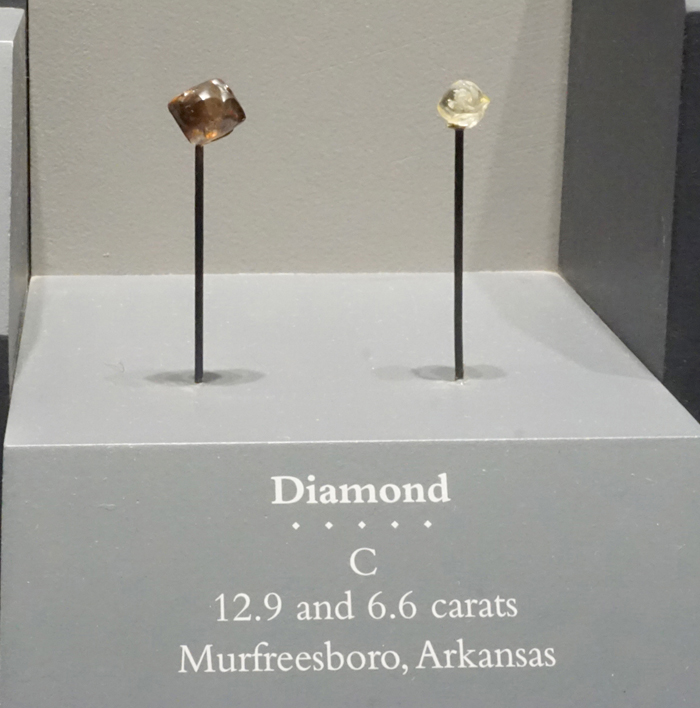 Brown and White Diamond Crystals from Murfreesboro, Arkansas