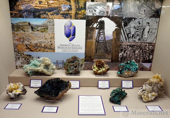 Minerals from the Ojuela Mine, Mapimi, Durango, Mexico, The Sherman Dugan Museum of Geology at San Juan College