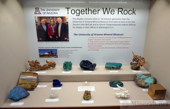 Together we Rock: Specimens that were on Loan to former Congresswoman Gabriel Giffords and the Late Senator John McCain, The University of Arizona Mineral Museum