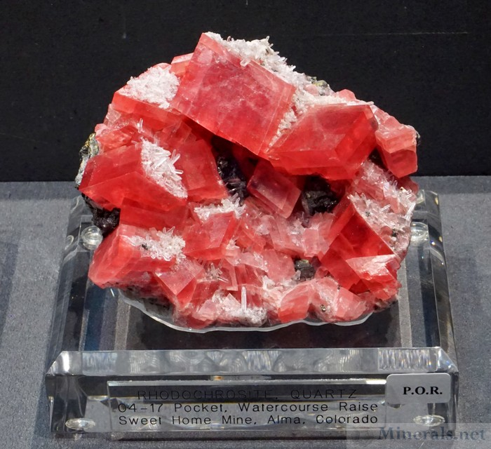 Rhodochrosite Crystals from the 04-17 Pocket, Sweet Home Mine, Alma, Colorado