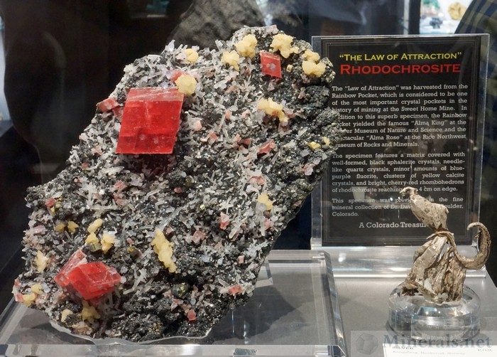 The Law of Attraction Rhodochrosite, an Amazing Rhodochrosite Specimen from the Sweet Home Mine, Alma, Colorado