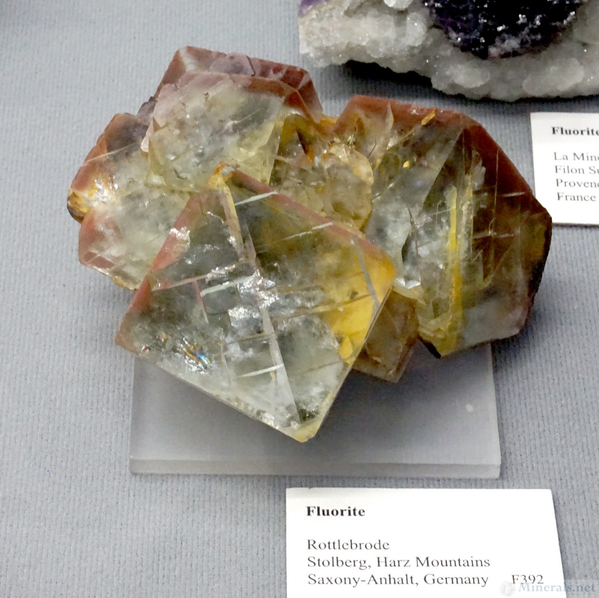 Multicolored Fluorite from Rottlebrode, Stolberg, Harz Mountains, Germany, Jesse Fisher