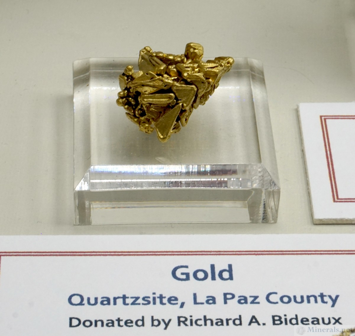 Well-Formed Gold Crystals from Quartzite, La Paz Co., AZ, The University of Arizona Gem & Mineral Museum