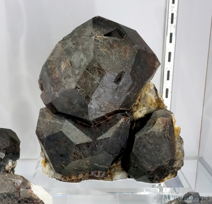 Single Large Almandine Garnet Crystal from the Mount Marie Mine, Paris, Maine, Graeber & Himes