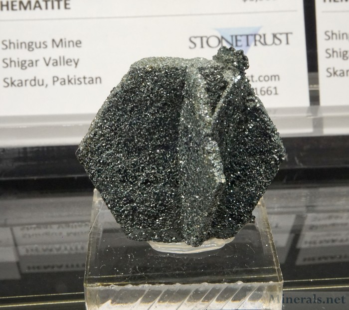 Hexagonal Sparkly Hematite from the Shingus Mine, Shigar Valley, Skardu, Pakistan, Stonetrust