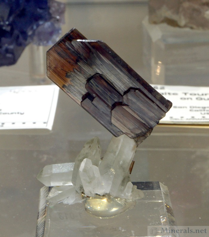 Brookite on Quartz, Kharan District, Balochistan, Pakistan, Well Arranged Molecules (Kevin Downey)