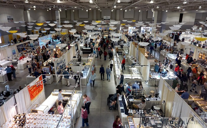 The Tucson Gem and Mineral Show® View from Above on Opening Day