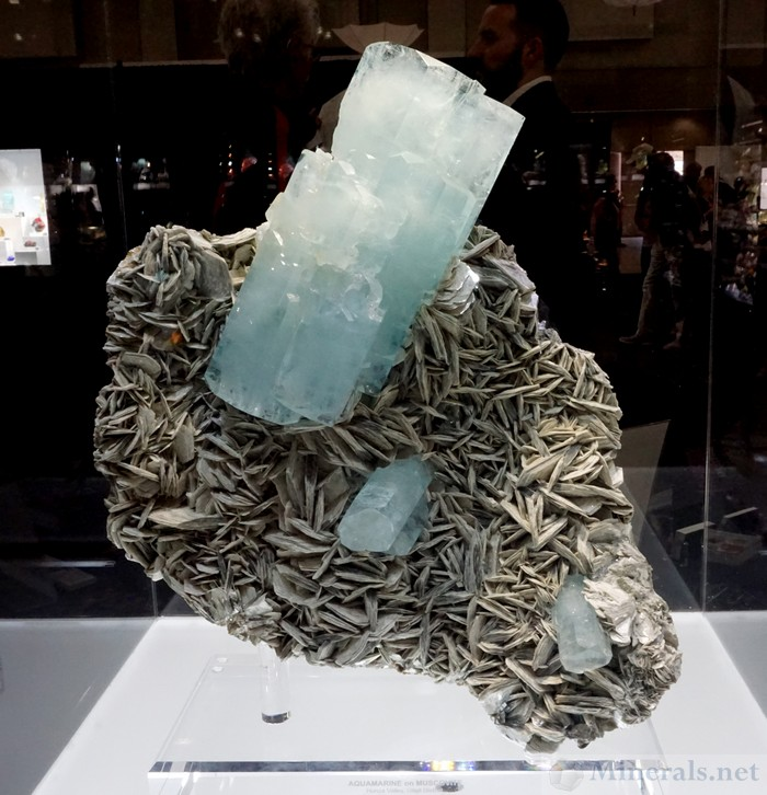 Aquamarine on Muscovite, Hunza Valley, Gilgit, Pakistan, The Arkenstone