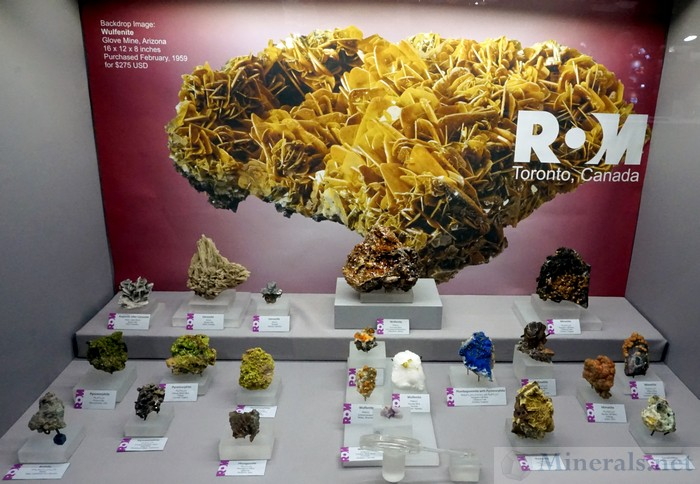 Wulfenite and other Lead Minerals, Royal Ontario Museum