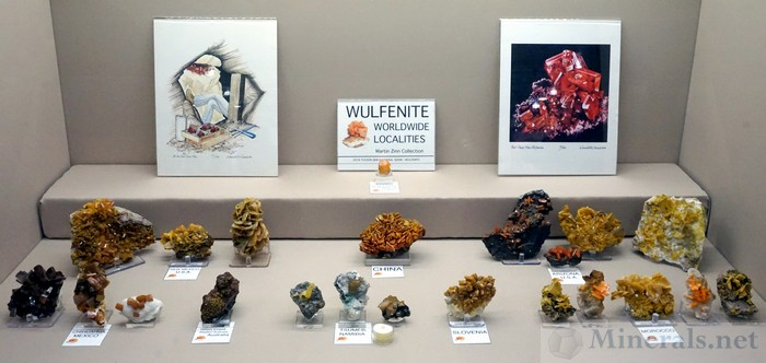 Wulfenite Worldwide Localities, Martin Zinn Collection