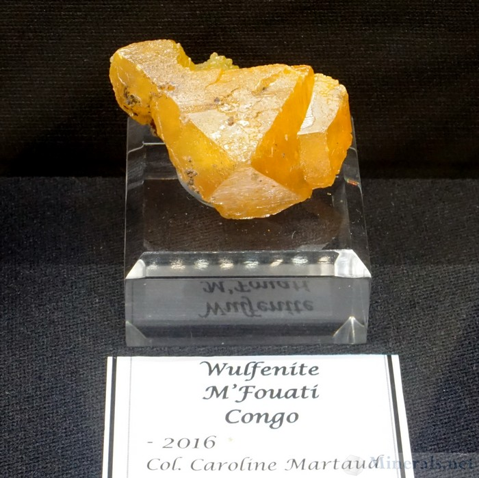 Thick Pyramidal Wulfenite Crystals from M'Fouati, Congo, Caroline Martaud Collection