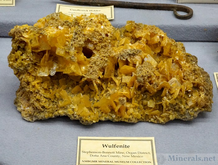 Wulfenite from the Stephenson-Bennet Mine, Organ District, Dona Ana Co., NM, New Mexico Bureau of Geology & Mineral Resources