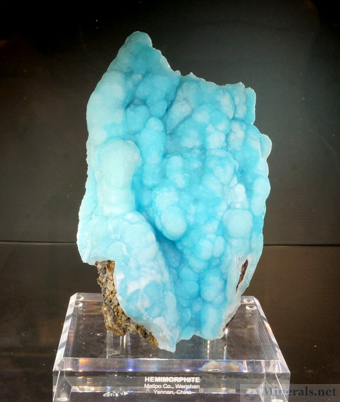 Blue Hemimorphite Botryoidal Formation from Malipo Co, Wenshan, Yunnan, China, The Arkenstone