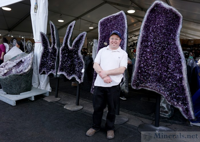 Giant Amethyst Geodes at the Pueblo Show at the Riverpark Inn