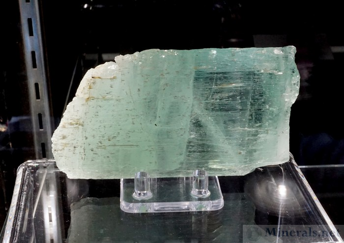 Very Unusual Aquamarine Pseudomorph after Spodumene from Minas Gerais, Brazil, Investments from Earth