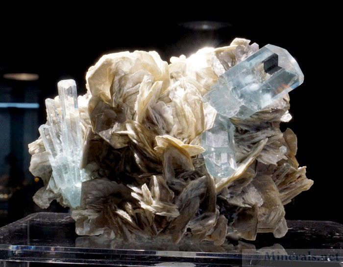 Exceptional Aquamarine Beryl with Muscovite from Nagar, Hunza Valley, Pakistan