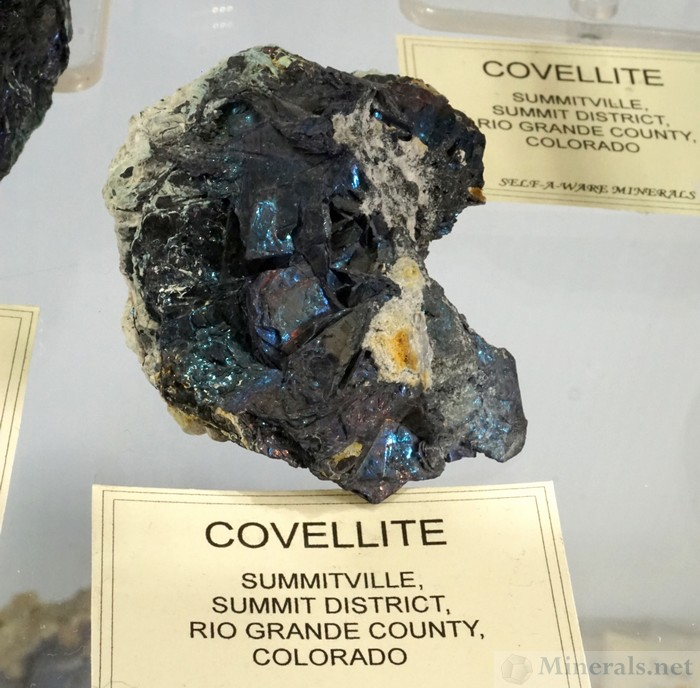 Iridescent Covellite Crystals from Summitville, Rio Grande Co., Colorado, Self-A-Ware Minerals