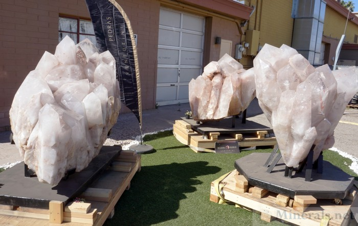 Giant Quartz Crystals Outside at the InnSuites (Hotel Tucson City Center)
