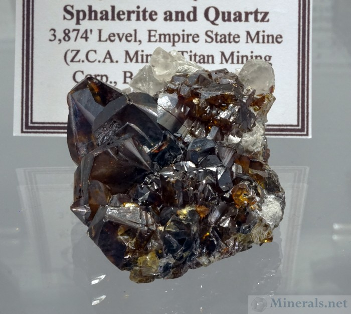 Sphalerite and Quartz from the ZCA Mine, Balmat, New York, Geologic Desires