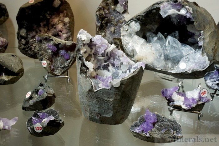 Several Additional Specimens of the New Find of Amethyst from near Khadakwani, Madhya Pradesh, India, Matrix India Minerals