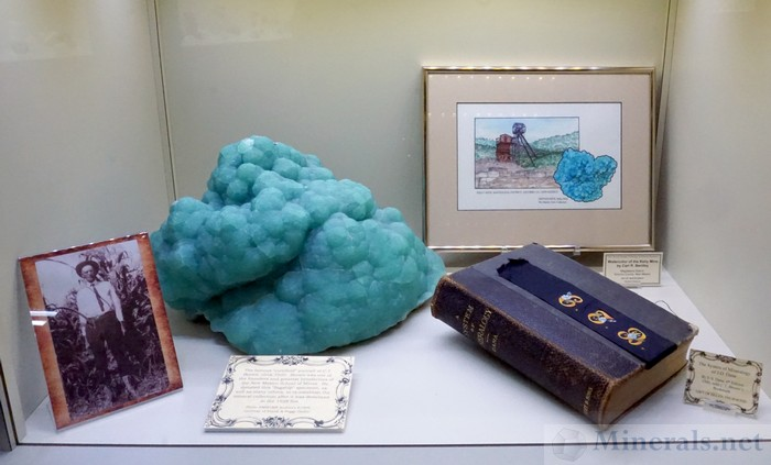 An Incredibly Large Smithsonite and Memorabilia from the Kelly Mine