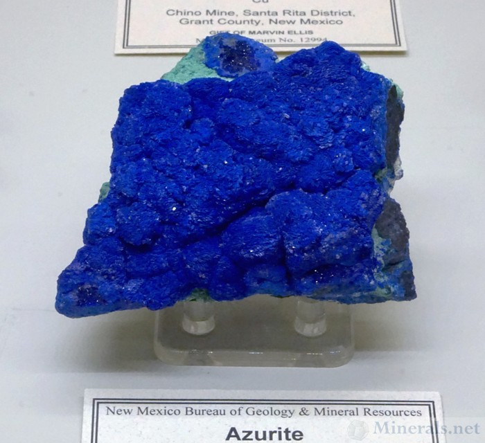 Bright Blue Azurite from the Santa Rita District, Grant Co, New Mexico