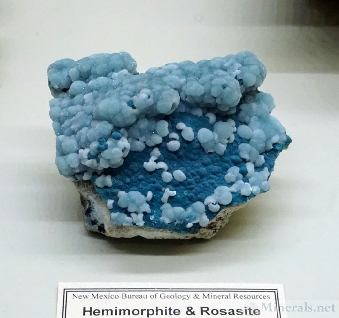 Hemimorphite & Rosasite from the Kelly Mine, Magdalena, New Mexico
