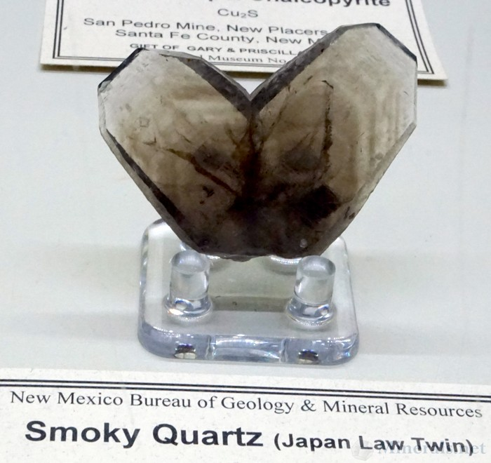 Smoky Quartz Japan-Law Twin from the Ortiz Mountains, Santa Fe Co., New Mexico