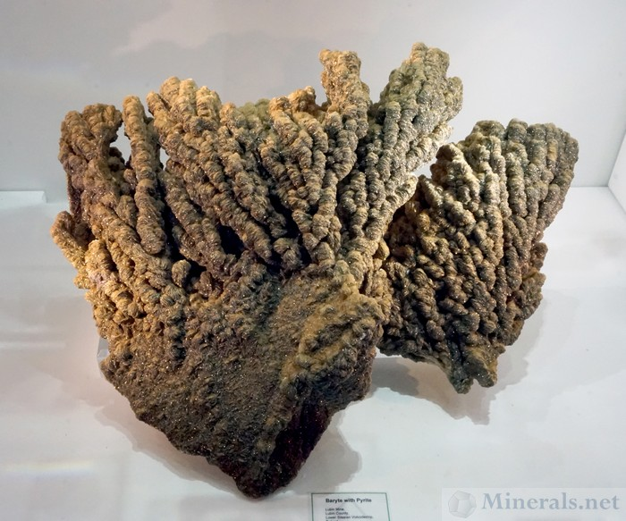 Very Large Barite with Pyrite from the Lubin Mine, Lower Silesian Voivodeship, Poland: Green  Mountain Minerals