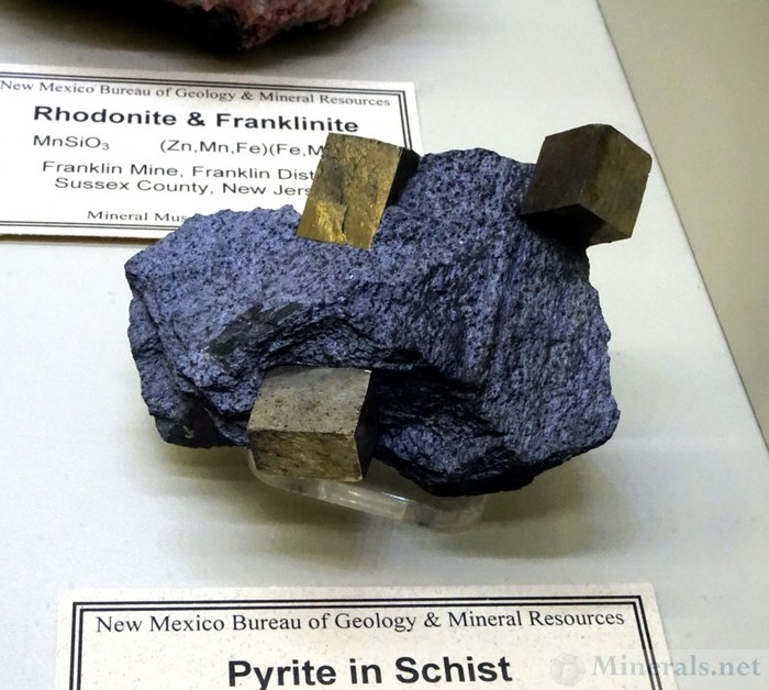 Pyrite in Schist from Montpelier, Washington Co., Vermont