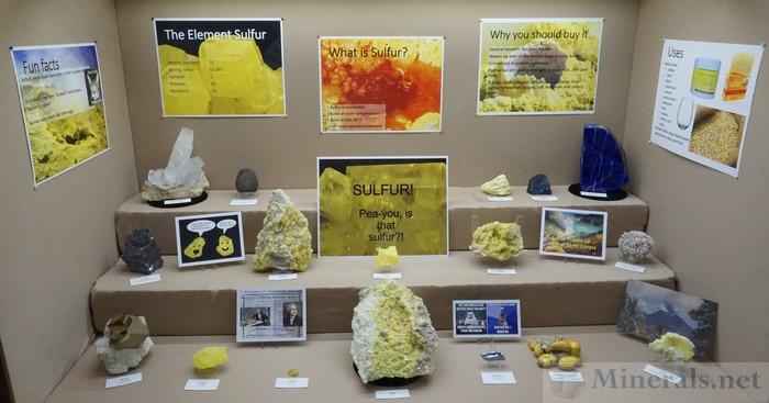 Display Case Devoted to Sulfur