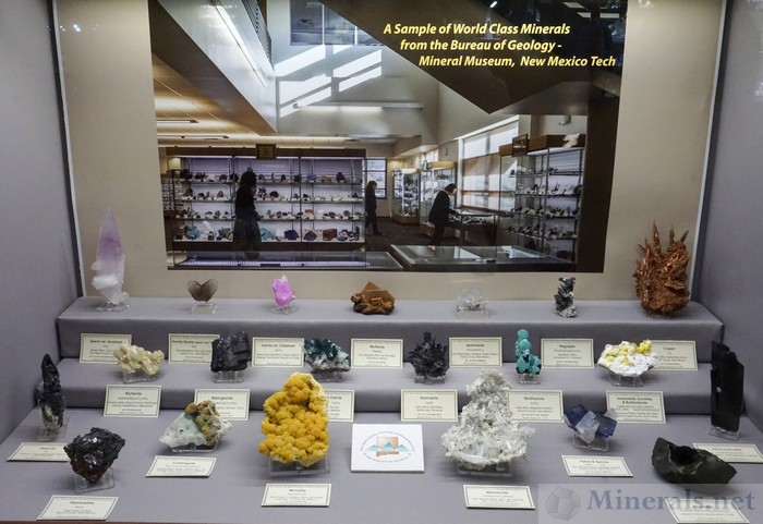 Sample of World Class Minerals - New Mexico Tech Bureau of Geology Mineral Museum