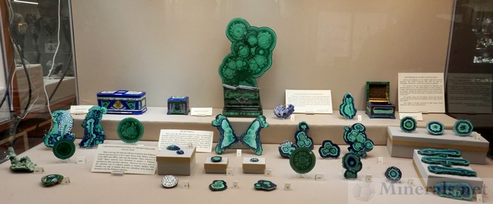 Sliced and polished Malachite and Azurite Pieces - Will Larson Collection