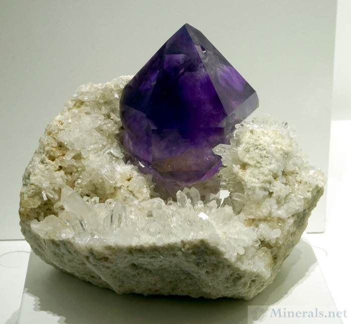 Amethyst on Quartz from the Jackson's Crossroads Mine, Wilkes Co., Georgia, Natural Creations LLC