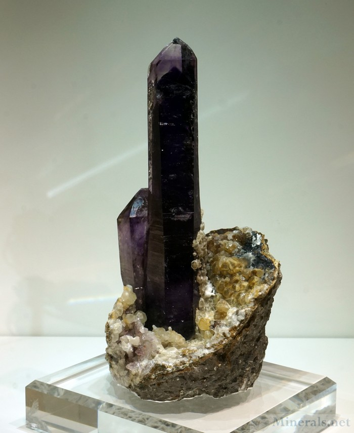 Amethyst with Phantom Crystal from Goboboseb Mts, Brandenberg, Erongo, Namibia, Nicholas Stolowitz Fine Minerals